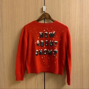 ❤️Divided H&M Red Sweater Crew Neck